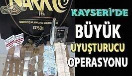 Kayseri'deki uyuşturucu operasyonunda 3 şüpheli gözaltına alındı