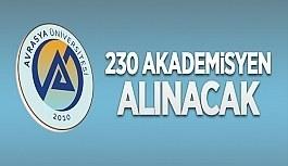Avrasya Üniversitesi 230 öğretim üyesi...