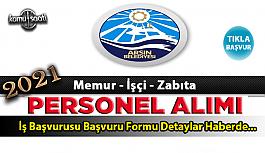 Arsin Belediyesi personel alımı Zabıta...