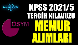 KPSS 2021/5 tercih kılavuzu yayımlandı
