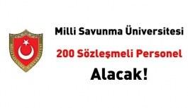 Milli Savunma Üniversitesi 200 sözleşmeli...