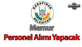Konya İli Karapınar Belediyesi memur alımı...