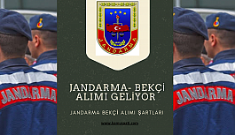 Jandarma Bekçi Alımı 2022 Jandarma bekçi...