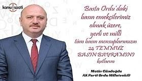 Metin Gündoğdu'dan 24 Temmuz Basın Bayramı Mesajı