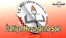 İlahiyat mezunları öğretmenlik listesinden çıkarıldı