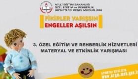 3. Özel Eğitim ve Rehberlik Hizmetleri Materyal ve Etkinlik Yarışması