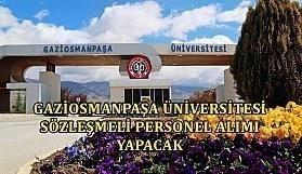 Gaziosmanpaşa Üniversitesi Sözleşmeli Personel Alımı Yapacak