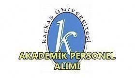 Kafkas Üniversitesi akademik personel alımı yapacak
