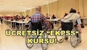 "Ücretsiz ""EKPSS"" kursu! Engelli memur adayları..."