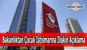 Aile Bakanlığı'ndan Adana'daki çocuk istismarına ilişkin açıklama