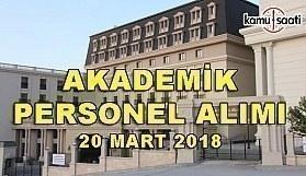 Ankara Sosyal Bilimler Üniversitesi akademik personel alım ilanı - 20 Mart 2018