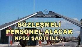 Erciyes Üniversitesi 158 Sözleşmeli Personel Alım İlanı - 24 Nisan 2018