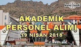 Gümüşhane Üniversitesi 10 Akademik Personel Alacak - 19 Nisan 2018
