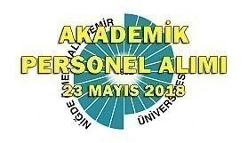 Niğde Ömer Halisdemir Üniversitesi 29 Akademik Personel Alım İlanı - 23 Mayıs 2018