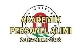 Amasya Üniversitesi 5 Akademik Personel Alımı Yapacak - 21 Haziran 2018