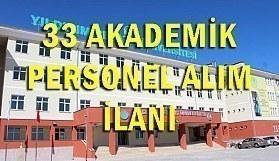 Ankara Yıldırım Beyazıt Üniversitesi 33 Akademik Personel Alım İlanı