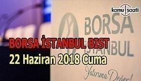 Borsa güne yükselişle başladı - Borsa İstanbul BİST 22 Haziran 2018 Cuma