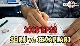 2018 KPSS Genel Kültür Genel Yetenek Soru ve Cevapları Burada