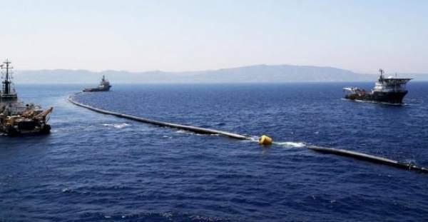 Yüzyılın projesinde ilk su Kıbrıs'a ulaştı