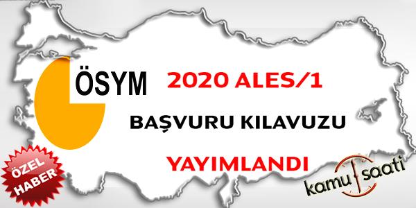 2020 ALES/1 başvuru kılavuzu yayımlandı