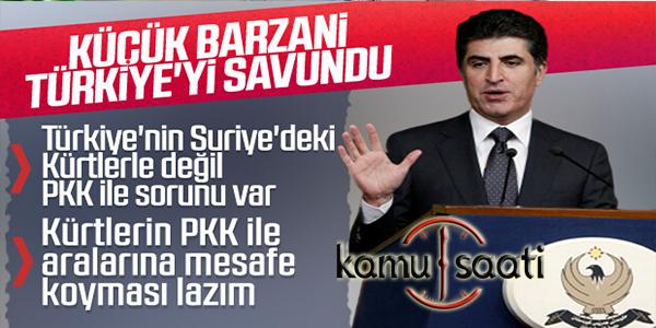 Barzani: Kürtler ile PKK mesafeli olmalı