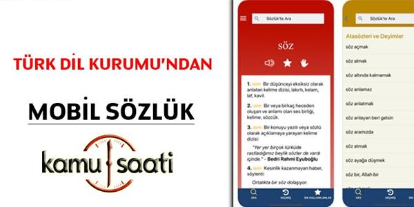 Türk Dil Kurumu'ndan mobil sözlük