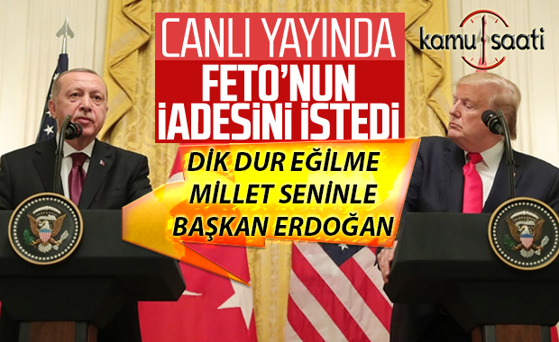 Erdoğan: FETÖ'nün ABD'deki mevcudiyeti bitirilmeli