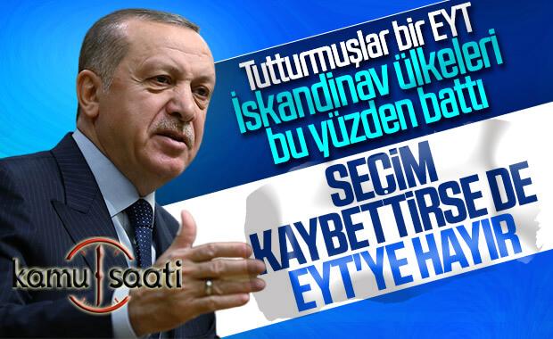 Cumhurbaşkanı Erdoğan, EYT tartışmasına noktayı koydu
