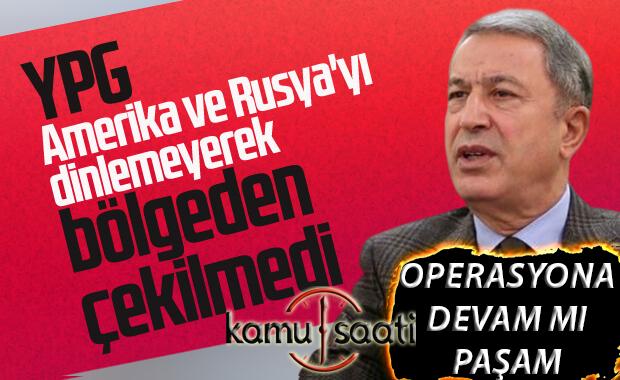 Akar: YPG bölgeden çekilmedi
