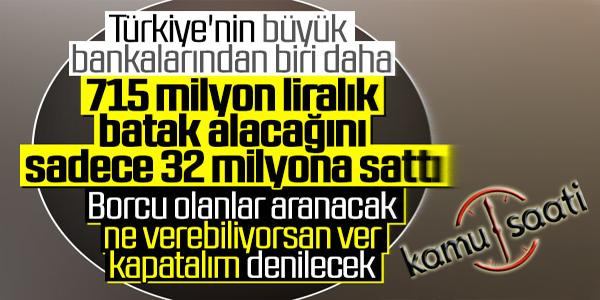 Akbank 714.5 milyon liralık alacağını sattı