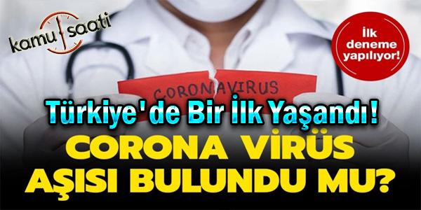 Türkiye'de aşı için ilk adım