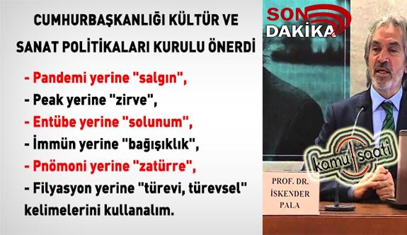 CB Kültür Politikaları Kurulundan Türkçe kelime önerileri