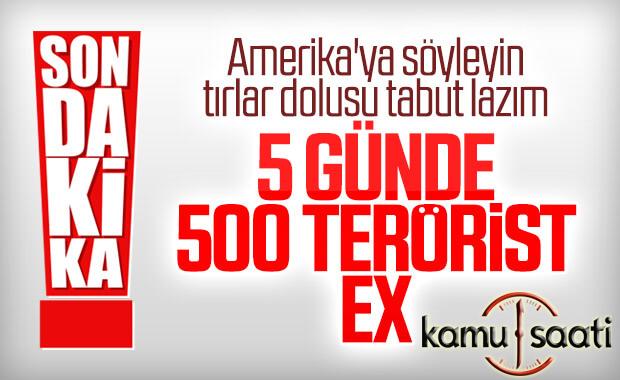 MSB: 480 terörist öldürüldü