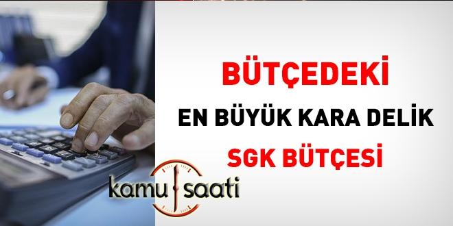 Bütçedeki en büyük kara delik, SGK bütçesi