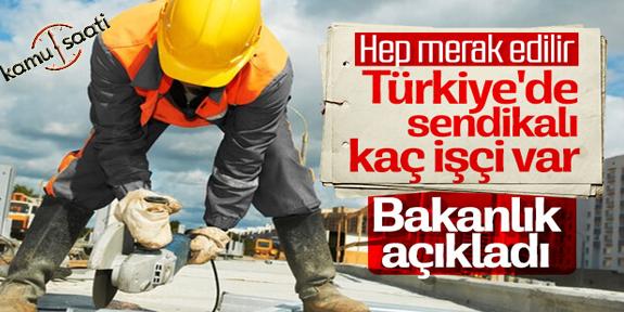 Türkiye'deki sendikalı işçi sayısı