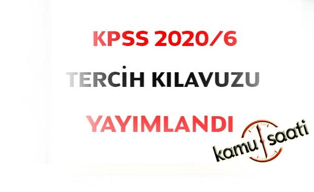 KPSS 2020/6 tercih kılavuzu yayımlandı