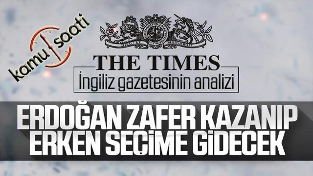 The Times'a göre Türkiye erken seçime gidebilir