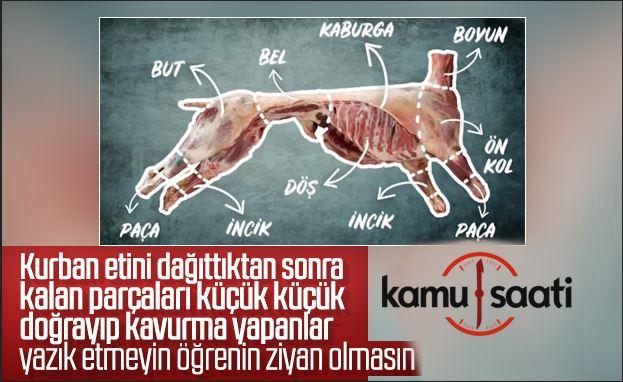 Kurban'da hayvanın etini ziyan etmemek için ipuçları