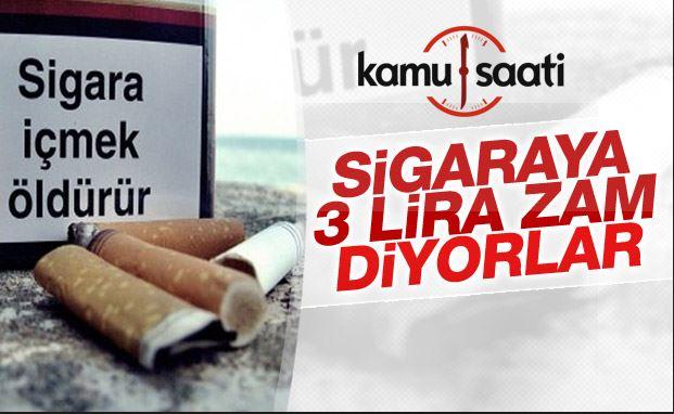 Sigaraya 3 lira zam geldiğine dair liste dolaşımda