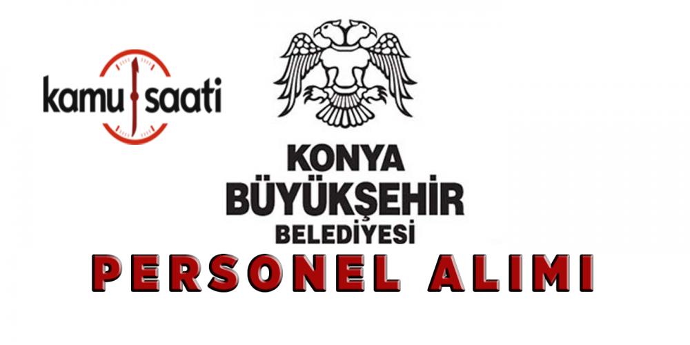 Konya Büyükşehir Belediyesi Memur Personel Alımı 2019