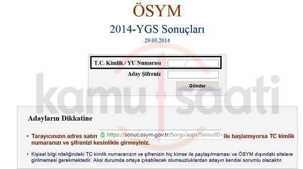 2016 Ygs Sonuçları ösym Ygs Sınav Sonucu Sonucosymgovtr Ygs